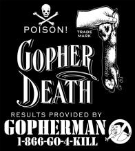 gopherdeath logo, gopher, pest, exterminator, camarillo