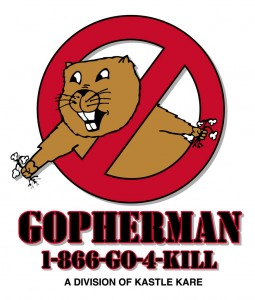 gopherman logo, gopher, pest control, exterminator