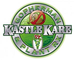 kastle kare logo, gopherman logo, gophers, pests, trees, weeds