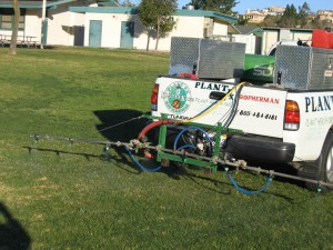 kastle kare, lawn care, spraying weeds, truck, landscape, ventura county