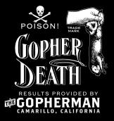 gopherdeath logo, weeds, landscape, lawn, exterminator
