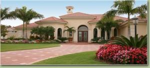 mansion, landscape, lawn, trees, flowers, shrubs, plant disease