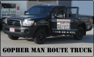 gopherman truck, gopher, rodent, pest control, exterminator