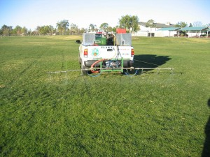 kastle kare truck, spraying weeds, lawn, insects